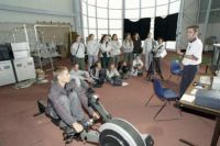 AIS Sports Science open day 2001 - Scott Anderson talking to students