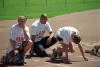 Patrick Johnson at the AIS Athletics Come and Try Day 2002