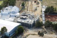 Aerial view of AIS Hub under construction 2006