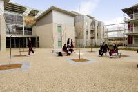 Main courtyard of the new AIS halls of residences 2007