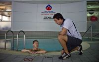 Christopher Erickson uses the AIS recovery centre plunge pool 2012