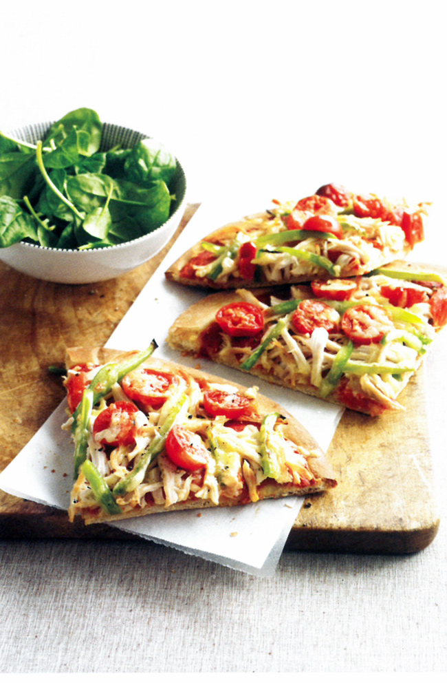 Chicken-and-spinach-pizza