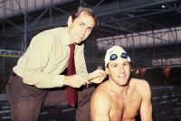 AIS Physiology 1986 - Dr Telford and Swimmer L. Leech