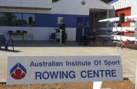 Michael Scott Director, AIS at the AIS rowing launch 2002
