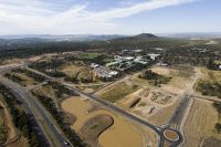AIS Bruce Campus aerial view of site and facilities under redevelopment 2006