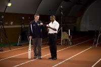 AIS Biomechanics and Performance Analysis host former West Indian cricketer Brian Lara - Wayne Spratford and Brian Lara 2008