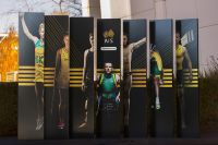 AIS signage outside the visitor centre with elite athletes 2016