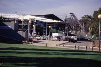 AIS Arena and NISC Ansett Sports Visitor Centre exterior 1996