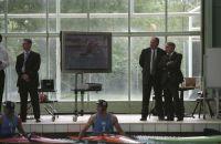 AIS Canoe Slalom launch 2004 - ASC Executive Director Mark Peters and MInister for Sport Rod Kemp