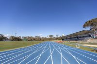 AIS track & field track newly laid track 2020