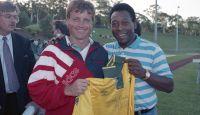 Pele visits the AIS Men's Football program 1993