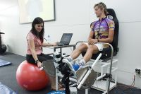 Shona Halson fatigue and recovery specialist (Physiology) testing on Miles Olman 2007