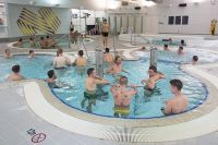 Athletes using the AIS recovery pools 2017