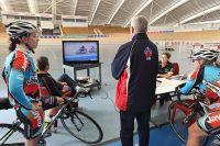 AIS track cycling daily training environment 2012 - Amy Cure, Annette Edmondson