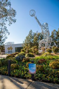 Floriade flowers in front of the AIS visitors centre 2020