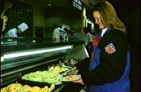 Melanie Vivian netballer at the AIS dining hall 1995