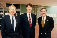 AIS Athlete Assembly 1994 - ASC Chief Executive Jim Ferguson, ASC Board Chairman Mike Fitzpatrick, AIS Director Robert de Castella