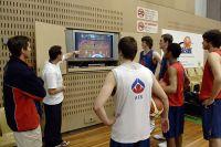 AIS men's basketball training Marty Clarke (Head Coach) and Adam Gorman (Skill Acquisition) 2005