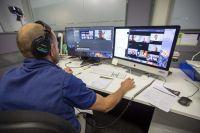 Sport Australia staff directing a live event 2020