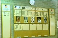 AIS dining hall Athlete of the Year display 1995