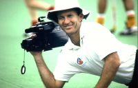 AIS Men's Hockey coach Barry Dancer videoing 1991