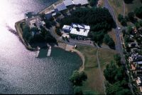 Aerial view of the AIS Rowing facility Canberra 2003