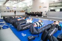 Athletes using recovery boots in the AIS recovery facility 2020