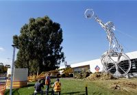 Re-construction of the Sydney Olympic Sculptures, a gift from AMP in memory of the number of Australian Olympians that have trained at the AIS previously set upon Sydney's Centrepoint tower) 2003