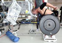 Para Triathlon athlete Bill Chaffey lab testing 2014