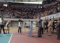 Opening of the National indoor sports centre by Malcolm Fraser 1981
