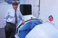 Jeff Bond with an AIS flotation tank 1995