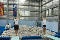 Bree Cole and Sharlene Stratton (AIS Diving) dry land training 2005