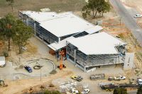 Aerial view of SDEC under construction 2006