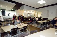 Dining hall in the new athlete residences 2007